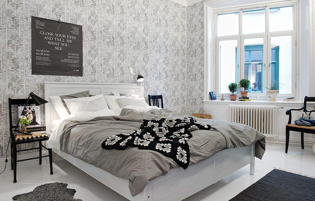 Dormitorios de matrimonio de estilo n rdico - Papel para dormitorio ...
